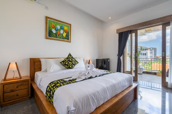 2Bedroom Private Apt w Kitchen and Balcony Canggu