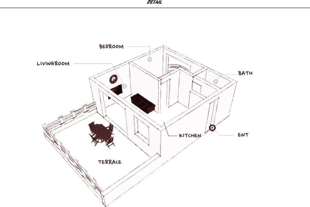 1층(거실/침실/욕실/부엌/배란다) + 복층 구조입니다.