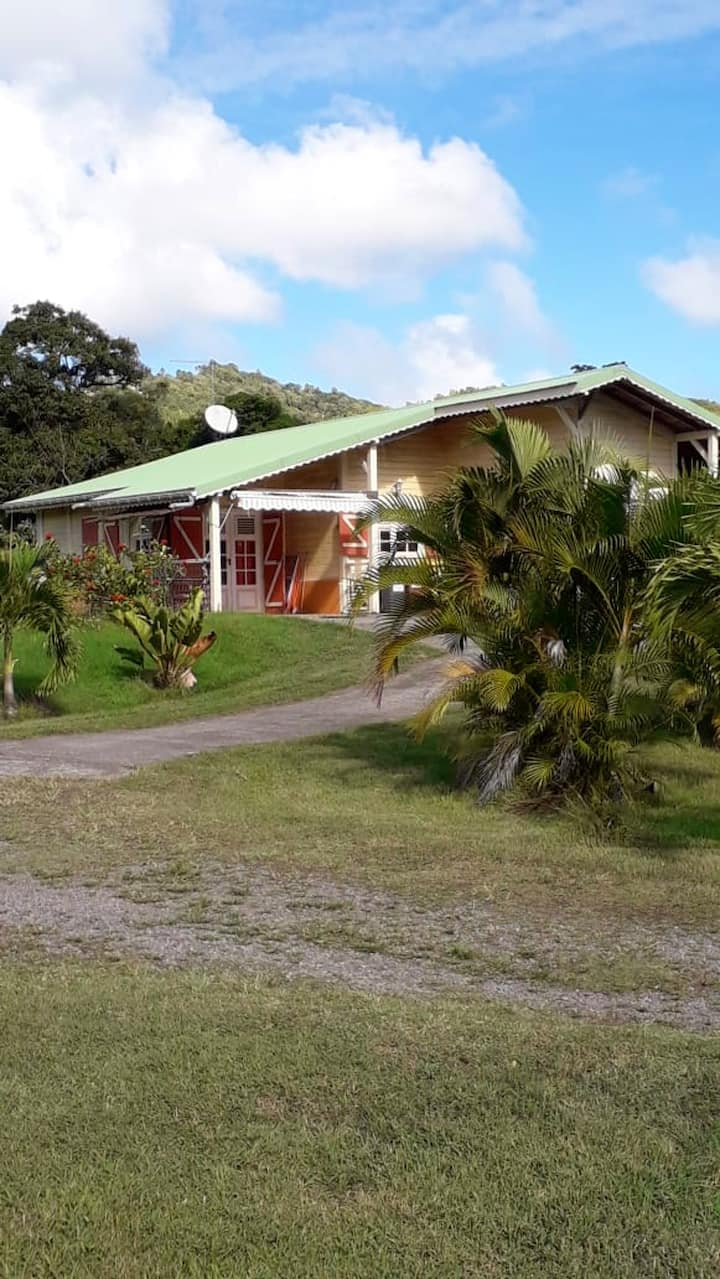 Apartment with one bedroom in Le Vauclin, with wonderful mountain view, enclosed garden and WiFi - 5 km from the beach
