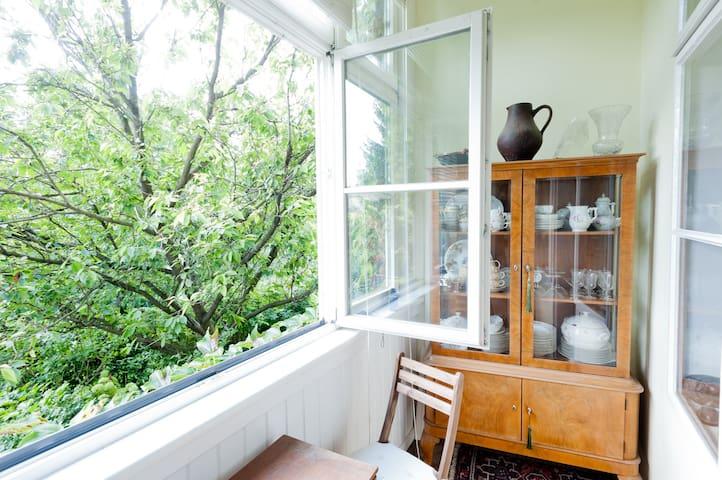 Nostalgische Wohnung in Grünruhelage nahe Zentrum