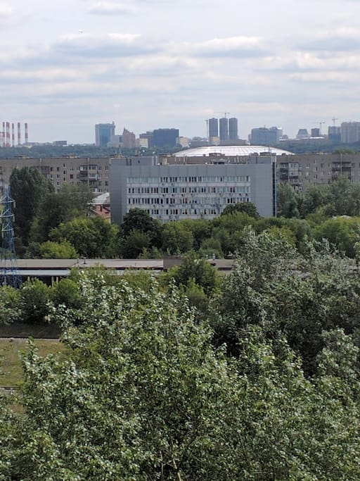 View of Luzhniki stadium from the window.