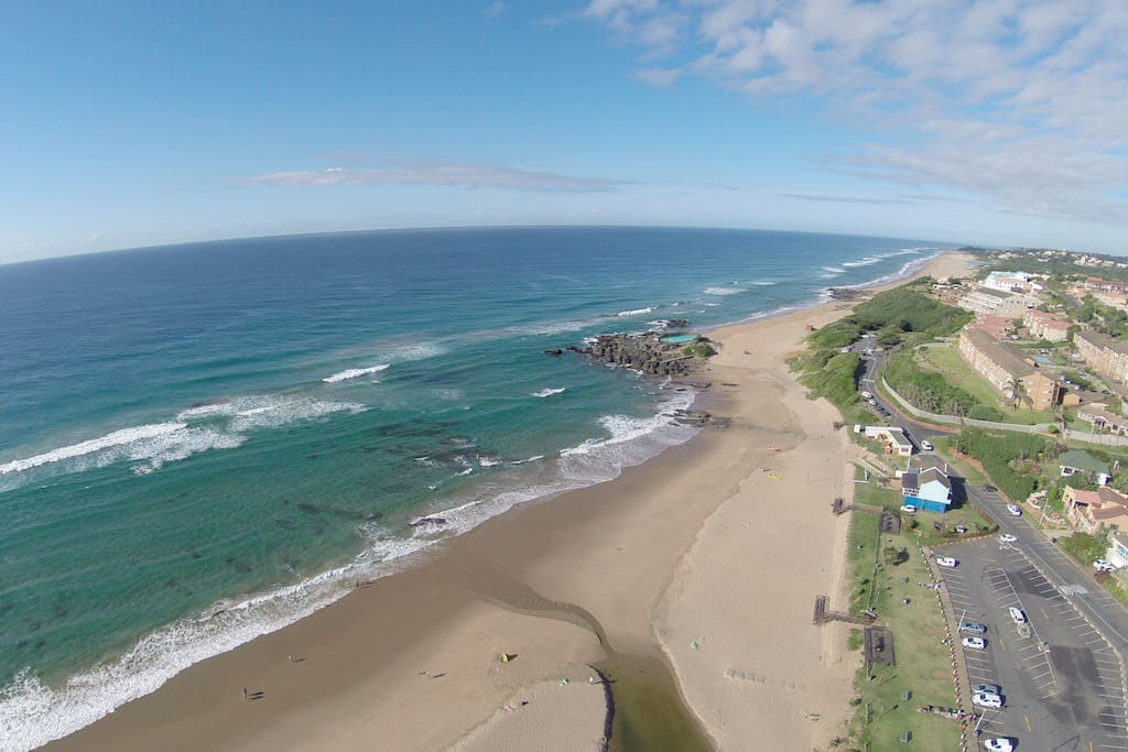 Beautiful Shark Protected Bathing Beaches in walking distance