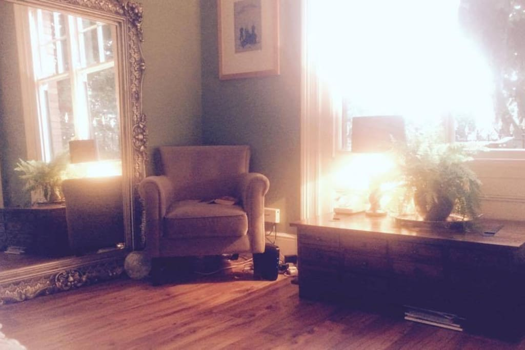 The drawing room is a sun trap in the early evenings.