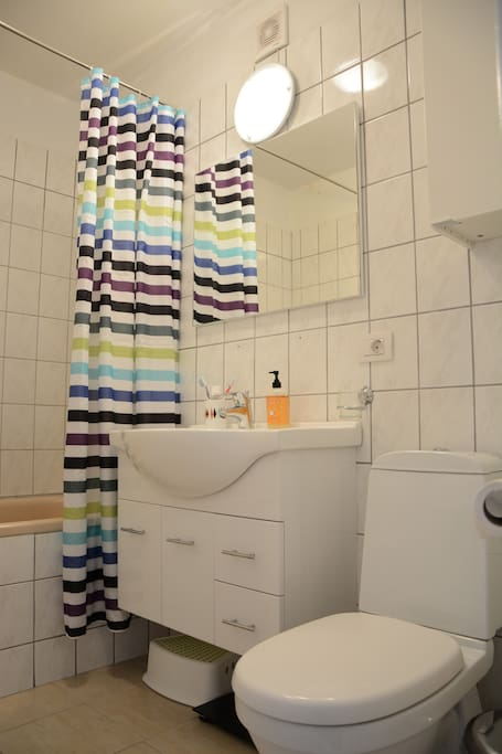 Bathroom with bathtub, shared with owner