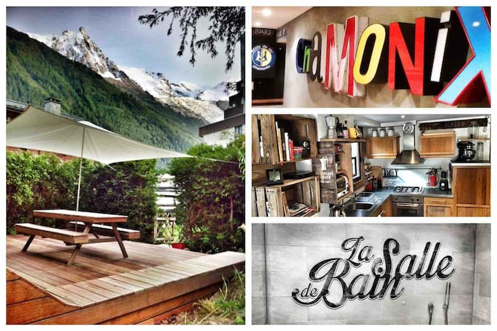 In the heart of Chamonix, view, deco&terrace!