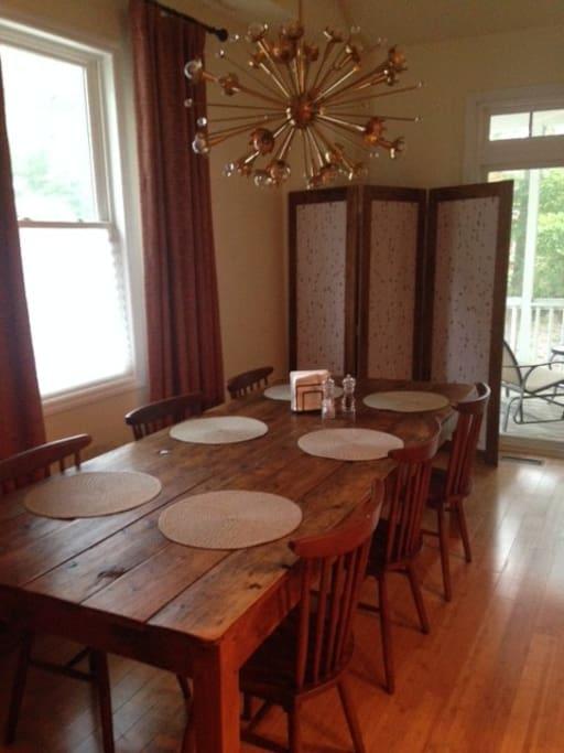 Roomy farmhouse table