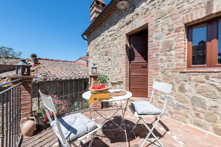 "Beautiful Holiday Apartment ""Casa Dovi"" in the Chianti with Fireplace & Terrace; Parking Available"