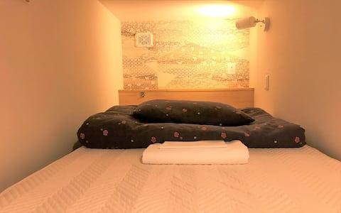 Comfy Single Cabin Dorm+Spacious Lounge & Kitchen#