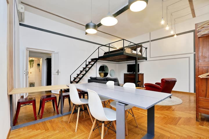 central, stylish loft in ROME_close to everything