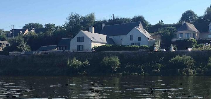 Charmante maison, bord de la Loire, 4 à 6 pers