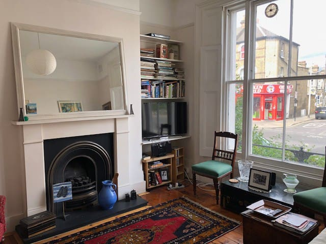 Comfy sofabed in lovely Victorian flat