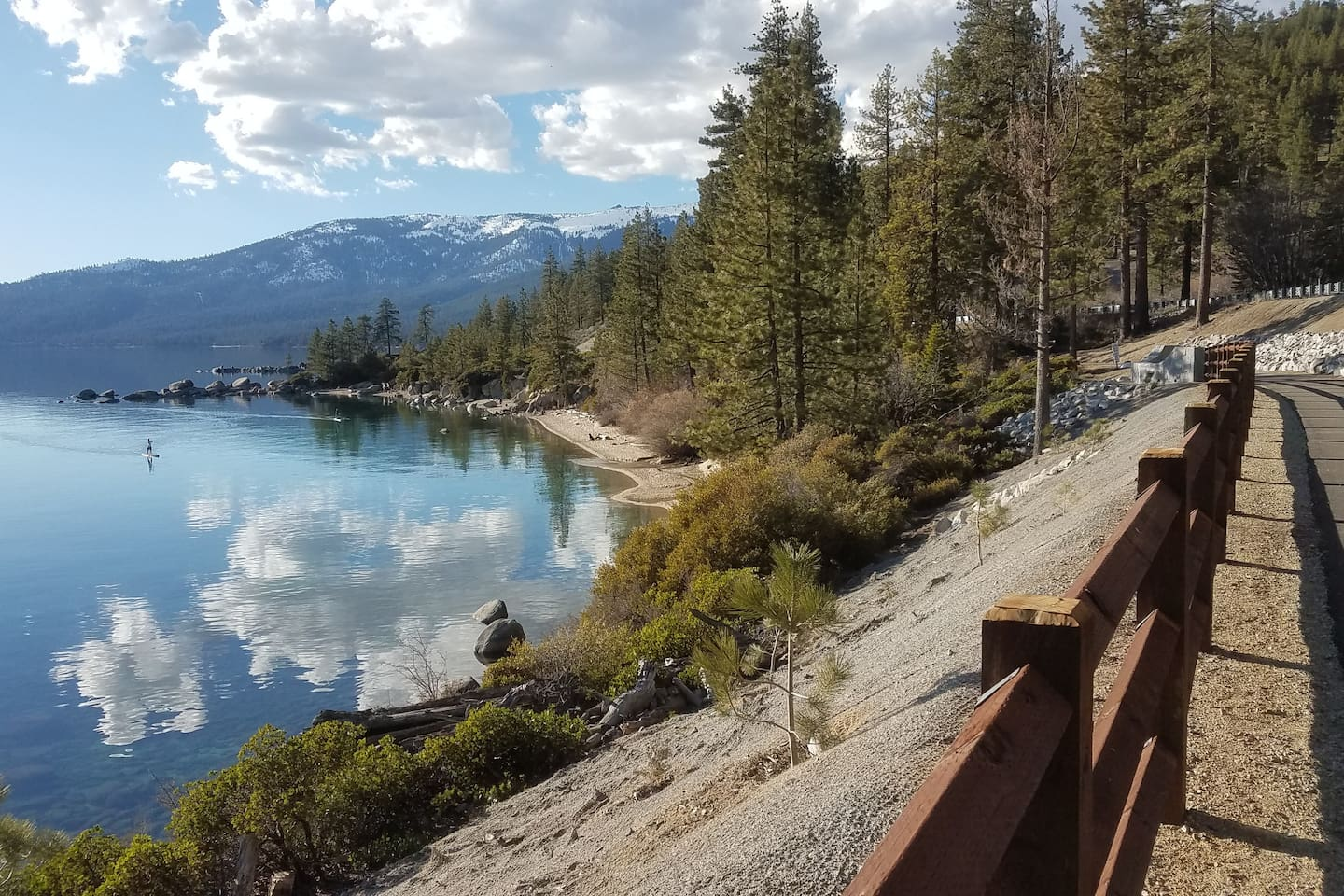 East Shore Trail (opens June 28) starts one easy walk or bike mile from the house (huge advantage as this will become the most popular trail in Tahoe and parking will be impossible)