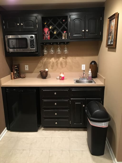 Kitchenette in the finished basement