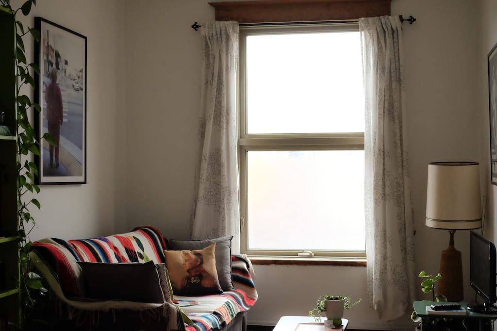 Salon avec divan-lit