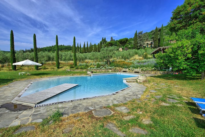 Montescalari 9 - Holiday Country House with swimming pool in Chianti, Tuscany