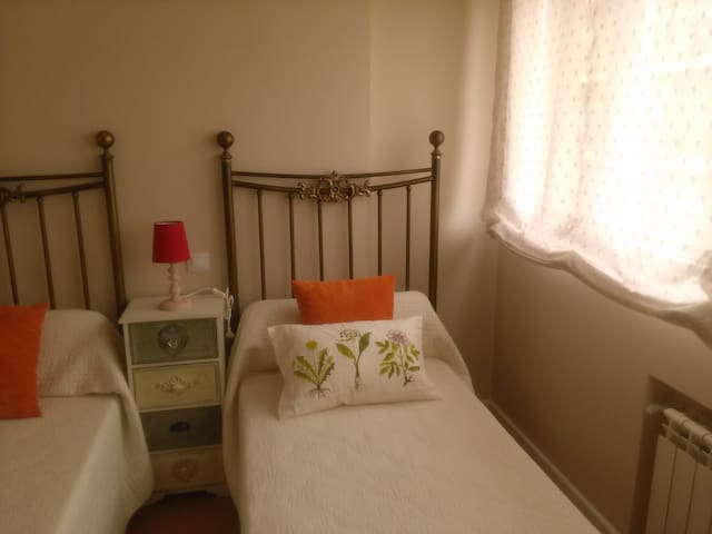 habitación con dos camas de 90 cm.