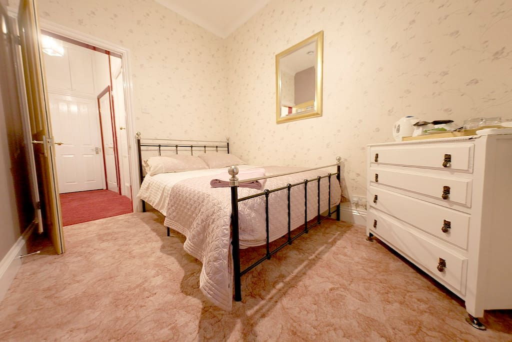 Comfortable double bed.