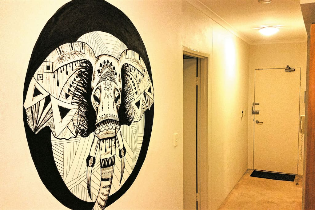 Amazing painting in apartment by local artist for your enjoyment.