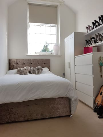 Bright, airy double room in luxurious central flat