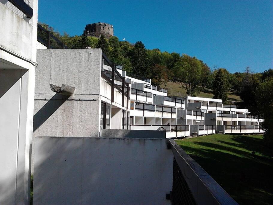 Photo prise de la terrasse.