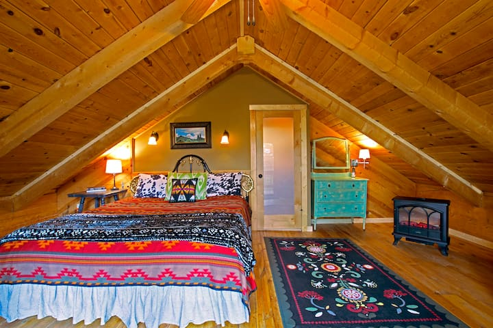 Upstairs King Bedroom #1 with Private Balcony and TV