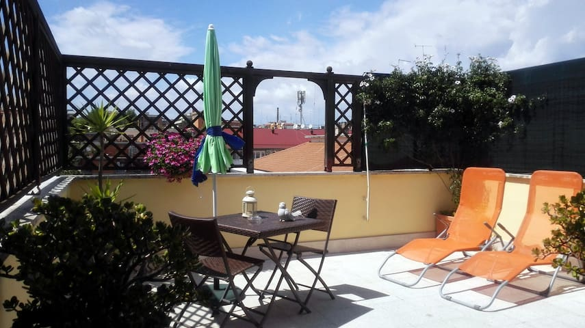 Cosy studio with beautiful terrace - Rome - Appartement