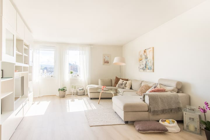 Bright and cozy apartment with beautiful view - Trondheim - Pis