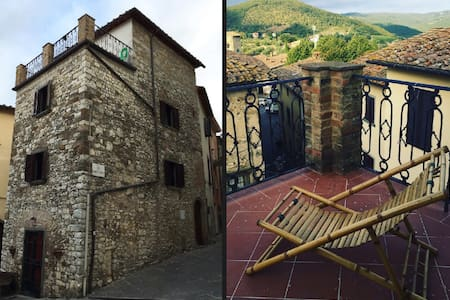 The ART REBUS Tower of 1200s - Radda in Chianti - Hus