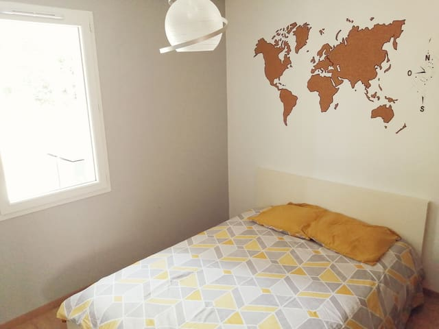 Chambre lit double et dressing