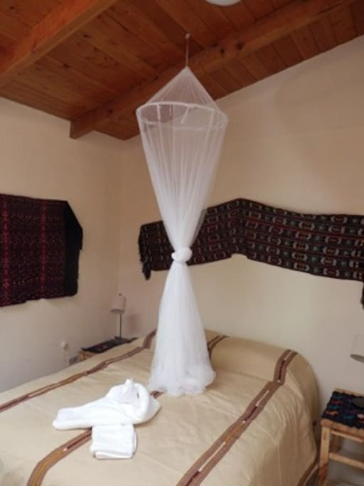 Bedroom with Queen Size Bed and Mosquito Net