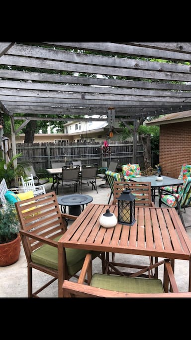 Backyard patio that's great for small gatherings.