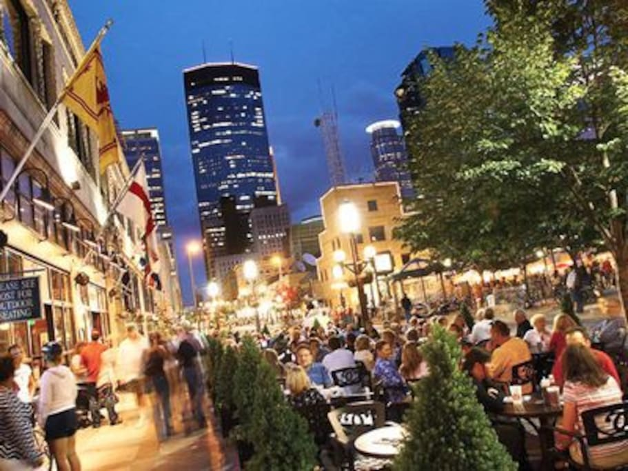 Nicollet Mall, Main Street of Minneapolis is less than a mile away, connected to skyway system