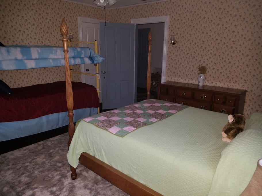 one of the three private bedrooms