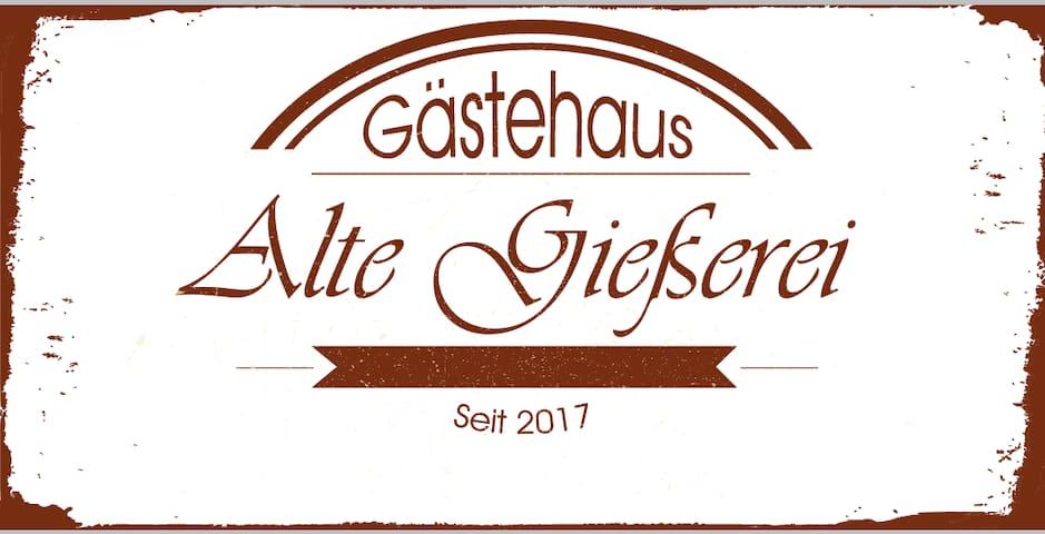 Gästehaus Alte Gießerei - DZ Marcel m. Gartenblick