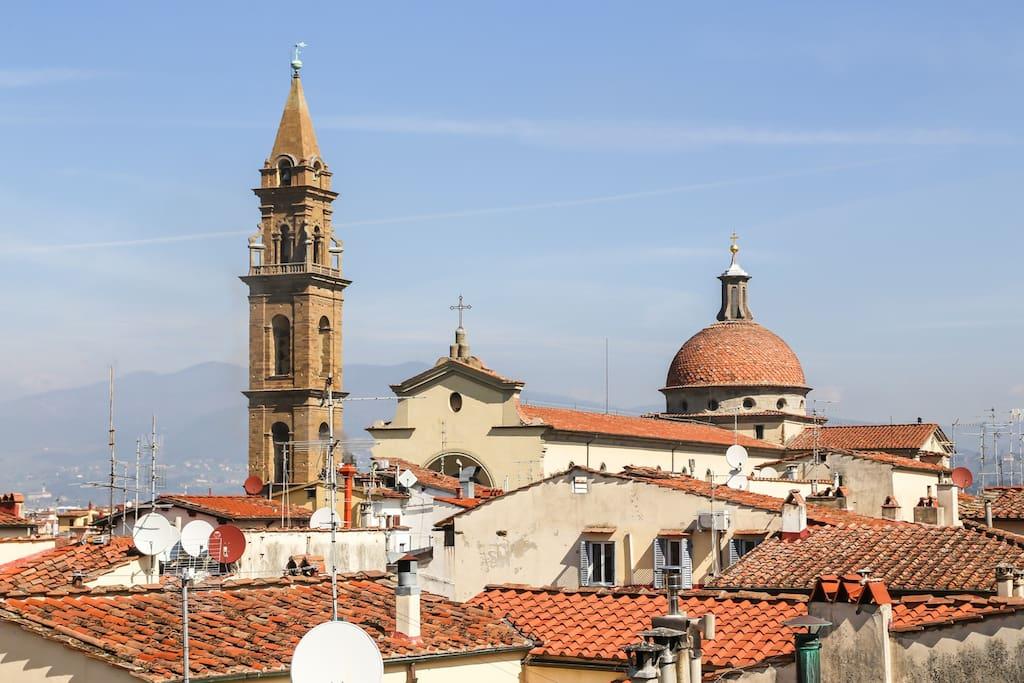 Vista di Piazza Santo Spirito dalla Terrazza Principale