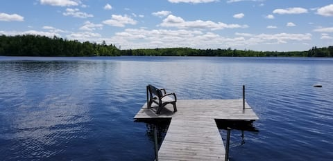 Camper 2BR on secluded, clear lake. PETS accepted!