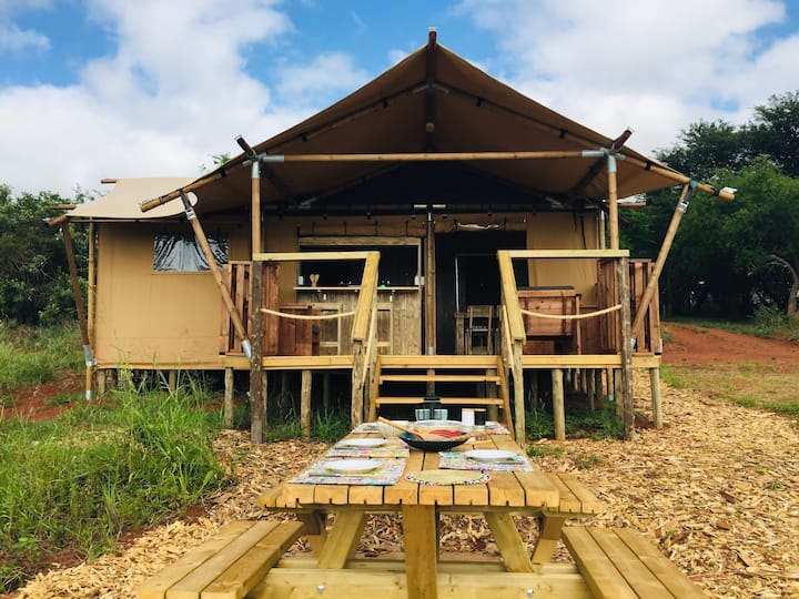 Hluhluwe Bush Camp Luxury Glamping Tent 1