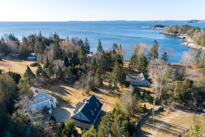 Weather Barn home and guest cottage offer a private seaside experience like no other in the charming town of Rockport, Maine!