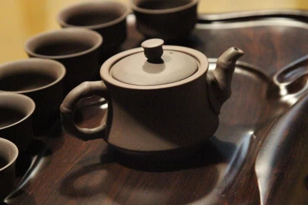 免费提供的茶具
