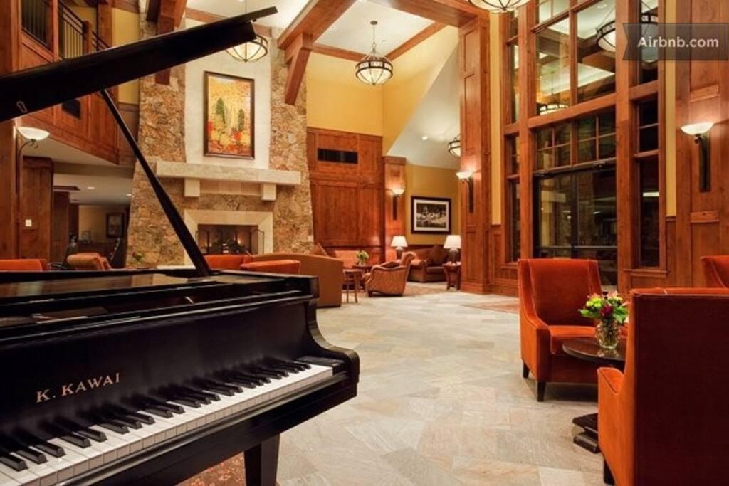 Lobby of Grand Lodge on Peak 7