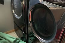 Laundry use available for $5 per load, bring your own liquid soap and softener or softener sheets