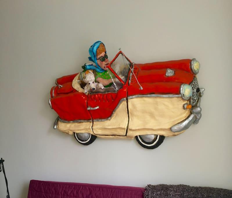 Free rental car. If you like driving along walls.