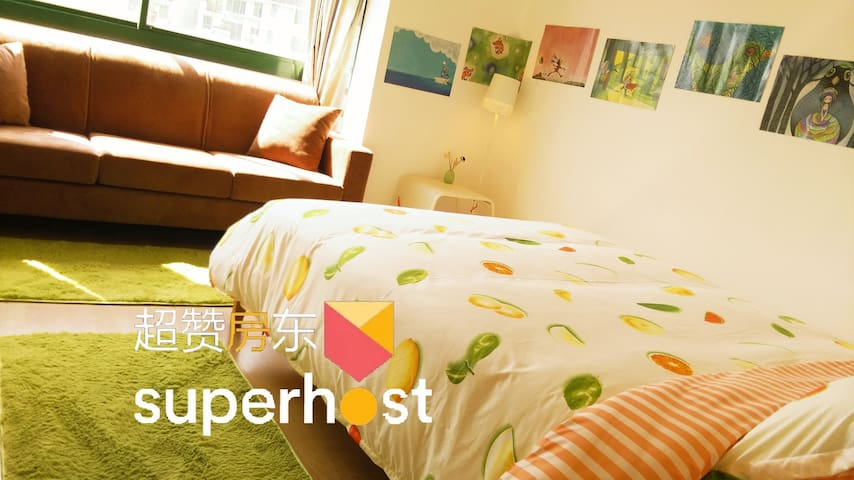 Double Room~Near Metro Station and Futian port - Shenzhen
