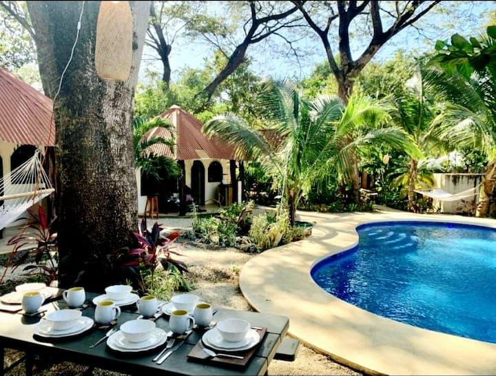 Tamarindo Cabana #2 : Yoga, Private Pool, Beach!