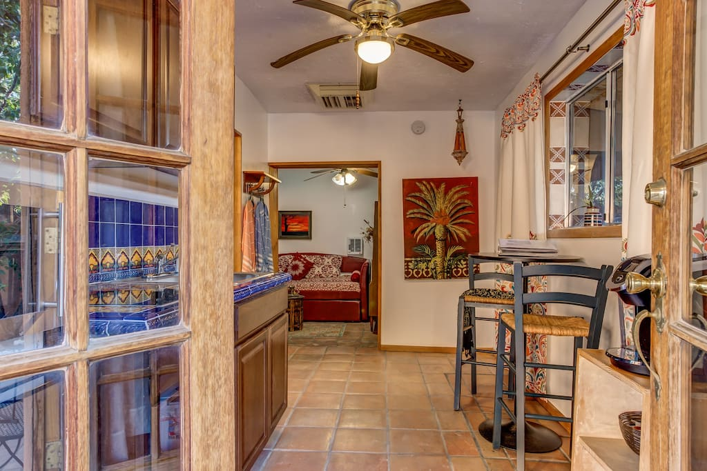 Upon entering you will find the recently remodeled eat-in kitchen.