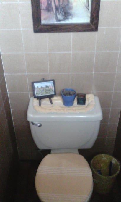 W.C. del 1/2 baño de la entrada de casa.