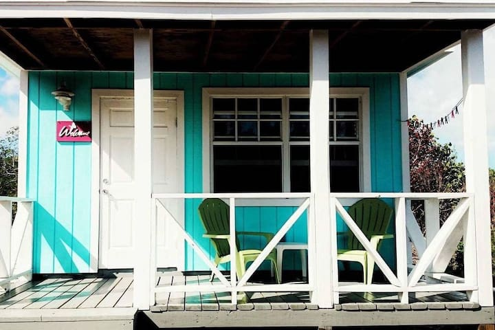 Martin's Romantic Beachfront Blue Bungalow