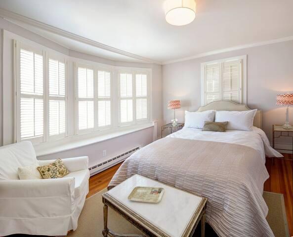 Bedroom enjoys lots of natural light