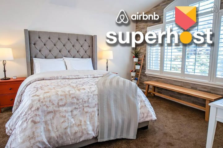 Best Superhosts Luxury ❤️+NoCleanFees+WIFI+Parking
