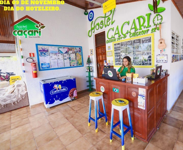 Quarto privativo Triplo - Hostel Caçari
